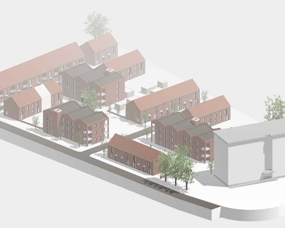 3D visualisatie vervangingsbouwproject MASTERPLAN NB1: Hoge Velden, Lindelei te Duffel