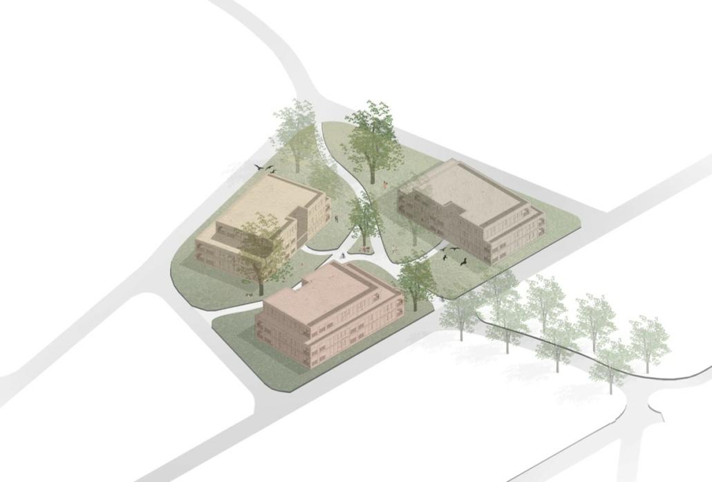 3D visualisatie project Olmenlaan te Bonheiden